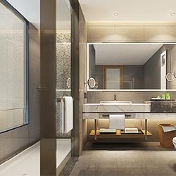 SALLY B2232-1 Prefabricated bathroom with steel frame and tile finish