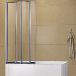 SALLY A0714P4 4mm 4-Fold Bath Screen Framed Safety Glass