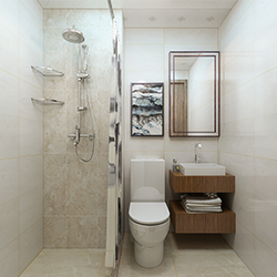 SALLY C1318 Prefabricated bathroom with steel frame and tile finish