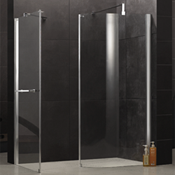 SALLY F34 Curved Glass Walk In Shower Enclosure Wet Room Screen Panel