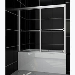 SALLY B0304P 4mm Bypass Sliding Bathtub Glass Screen 2 Sliding Way