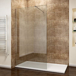 SALLY F002-1 Walk in Wetroom Single Glass Shower Screen Panel with Easy Clean Coating