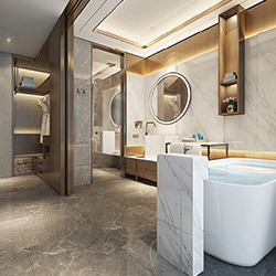 SALLY B4646-1 Prefabricated bathroom with steel frame and tile finish