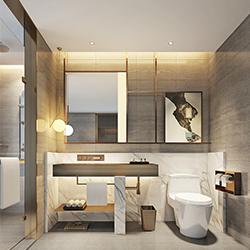 SALLY B2232-2 Prefabricated bathroom with steel frame and tile finish