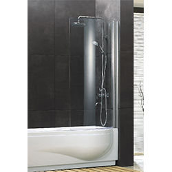 SALLY A059 Swing Bath Screen with Curved Safety Glass