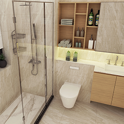 SALLY A1524-1 Prefabricated bathroom with steel frame and tile finish