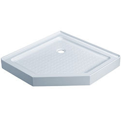 SALLY P81 Neo angle Acrylic Shower Base with drain CUPC approved