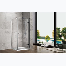 SALLY A066 Luxury Chrome Aluminum Semi Frame Push Pull Hinge Shower Door