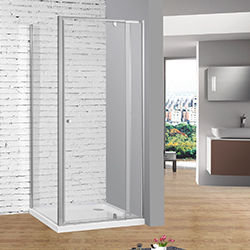 SALLY AWZ06P2+F08115 Extension Framed Pivot Hinge Shower Doors with Gel Magnet Closing Mechanism