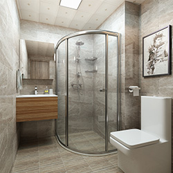 SALLY C1618 Prefabricated bathroom with steel frame and tile finish