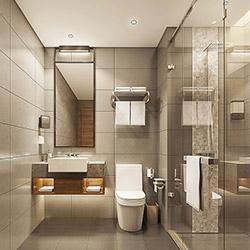 SALLY B1527-1 Prefabricated bathroom with steel frame and tile finish