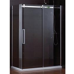 SALLY B054 Rectangle Big Roller Frameless Sliding Shower Enclosure with Side Panel