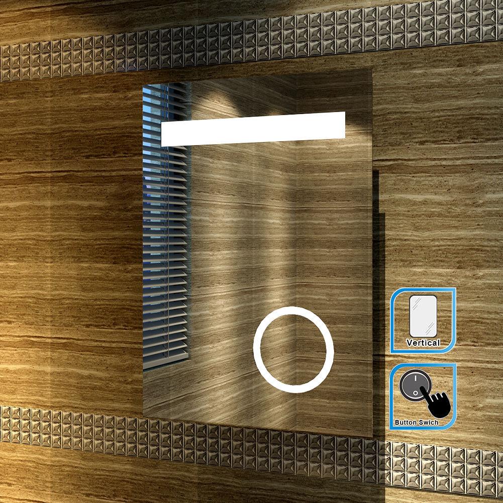 Sally TBM005 LED Bathroom Mirror with Magnifying glass